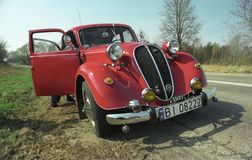 Rocznik Fiat 1500 przedwojennych samochodów Obraz Stock