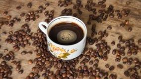 Rocznik filiżanka czarna kawa fotografia royalty free