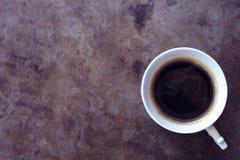 Rocznik filiżanka kawy z kontrparą Zdjęcie Stock