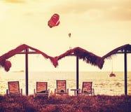 Rocznik filtrujący obrazek tropikalna plaża Zdjęcia Stock