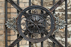 Rocznik forged dekoracyjnego element Zdjęcia Stock