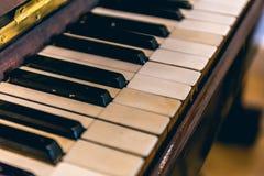 Rocznik Fortepianowa klawiatura zdjęcia royalty free