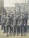 Rocznik fotografia żołnierze piechoty morskiej Obraz Royalty Free