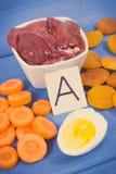 Rocznik fotografia, Karmowa zawiera witamina A, naturalne kopaliny i żywienioniowy włókno, zdrowy odżywczy łasowanie obraz stock