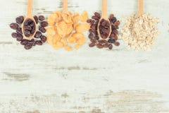 Rocznik fotografia, składniki jako źródło węglowodany, witaminy i żywienioniowy włókno, obraz royalty free