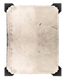 Rocznik fotografia z kątem odizolowywającym na bielu w wieku od papieru Obrazy Stock