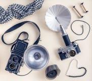 Rocznik fotografii akcesoria i kamery fotografia royalty free