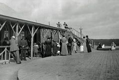 Rocznik fotografii konstytuci 1901 wzgórza i kabla stacja kolejowa, Zdjęcie Stock
