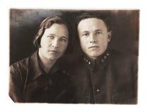 Rocznik fotografii portret Zdjęcia Stock