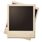 Rocznik fotografii ram natychmiastowa sterta odizolowywająca z ścinek ścieżką Obraz Stock