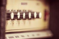 Rocznik gitary amplifikator Zdjęcie Royalty Free
