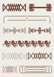 Rocznik granica, retro linie, oryginalny ornament Obraz Royalty Free