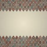 Rocznik granicy bezszwowy wzór Obrazy Royalty Free