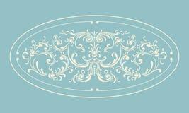 Rocznik granicy rama z retro ornamentem Obrazy Royalty Free