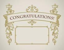 Rocznik gratulacje stylowa karta Zdjęcie Royalty Free