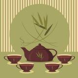 Rocznik herbaty set Zdjęcie Royalty Free