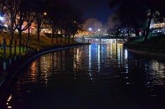 Rocznik i romantyczna rzeka Zdjęcia Royalty Free