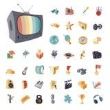 Rocznik ikony ustawiać dla rozrywki Obrazy Royalty Free