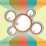 Rocznik ilustracja dla sieć projekta. Obraz Stock