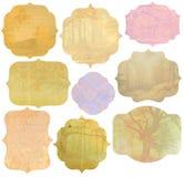 Rocznik jesieni etykietki Zdjęcia Royalty Free