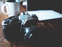 Rocznik kamera, ekranowy Carema Zdjęcie Stock