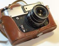Rocznik kamera z obiektywem fotografia stock