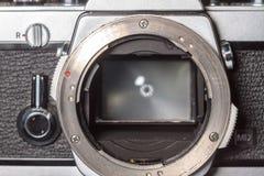 Rocznik kamery ekranowy zakończenie Obraz Royalty Free