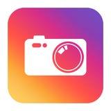 Rocznik kamery ikona na kolorowym gradiencie ilustracja wektor