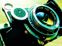 Rocznik kamery obiektyw Fotografia Stock