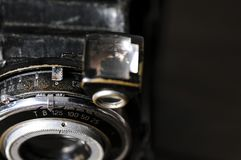 Rocznik kamery obiektywu zakończenie Fotografia Stock