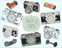 Rocznik kamery set Zdjęcie Royalty Free