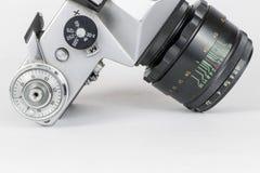 Rocznik kamery up ekranowy zakończenie Zdjęcia Stock