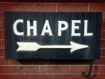 Rocznik kaplicy znak Obraz Stock