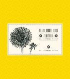 Rocznik karta z asteru kwiatem Obrazy Royalty Free