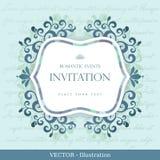 Rocznik karta z kwiecistego ornamentu projektem. Obrazy Royalty Free