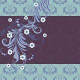 Rocznik karta z kwiecistym ornamentem Zdjęcia Royalty Free