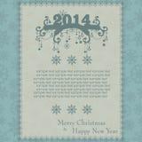 Rocznik kartka bożonarodzeniowa robić od płatków śniegu ilustracji