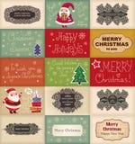 Rocznik kartki bożonarodzeniowa royalty ilustracja