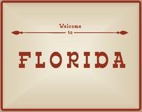 Rocznik karty powitanie Floryda ilustracja wektor