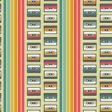 Rocznik kasety wektoru wzoru bezszwowy projekt royalty ilustracja