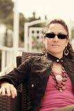 Rocznik Kaukaska kobieta Fotografia Stock