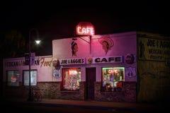 Rocznik kawiarnia na trasie 66 w Holbrook, Arizona usa obrazy royalty free