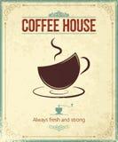 Rocznik kawy tło Obraz Stock