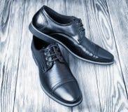 Rocznik klasyczna para czarni buty Obrazy Stock