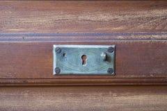 Rocznik klatka piersiowa kreślarzi przy starym domem Obraz Stock