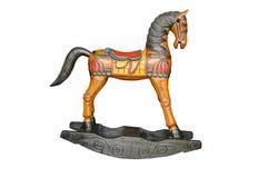 Rocznik kołysa konia odizolowywającego Obraz Royalty Free