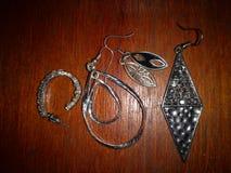 Rocznik kobiet akcesoria kolczyk i biżuteria obrazy stock