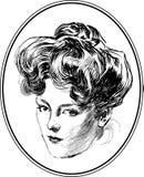 Rocznik kobiety portreta kolekcja -2 Zdjęcia Royalty Free