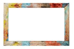 Rocznik kolorowa rama Zdjęcie Stock