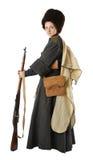 rocznik kostiumowa karabinowa kobieta Fotografia Royalty Free